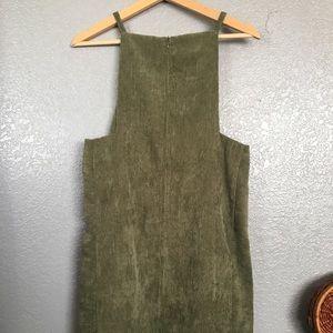 Green Corduroy Dress
